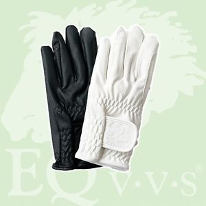EQvvs Adults Riding Gloves - Synthetic White ONLY (7609)